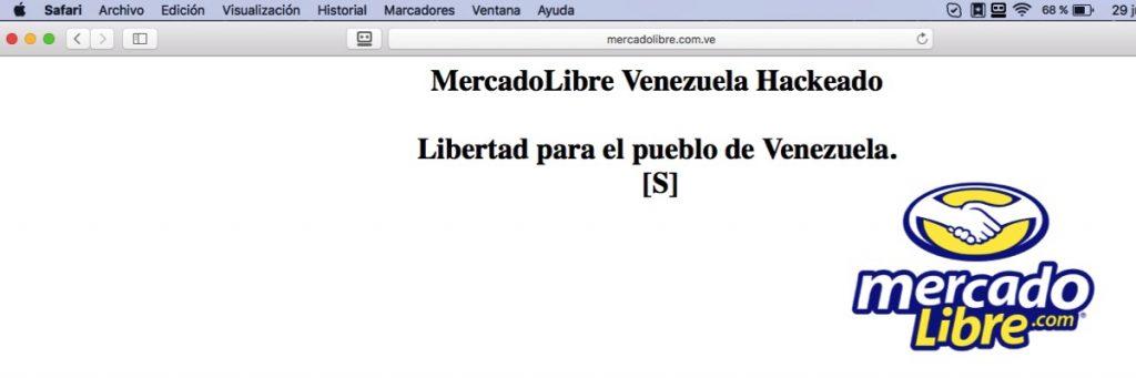 Mercado Libre Venezuela Hackeado